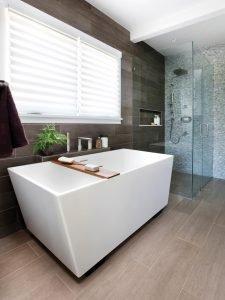 Modern bathroom renovated 14