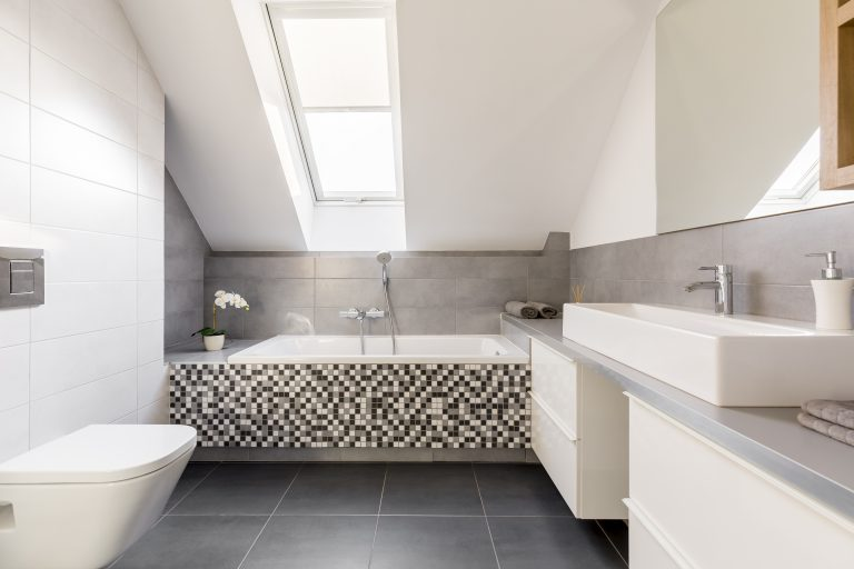 Contemporary Bathroom after Bathroom Renovation Castle Hill NSW