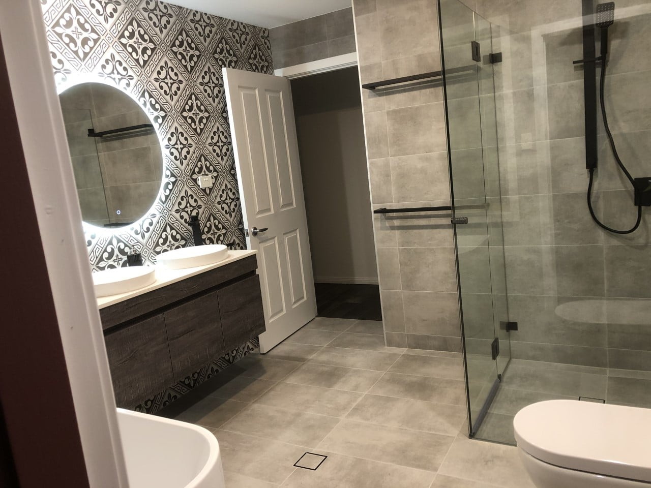 castle hill completed bathroom reno project